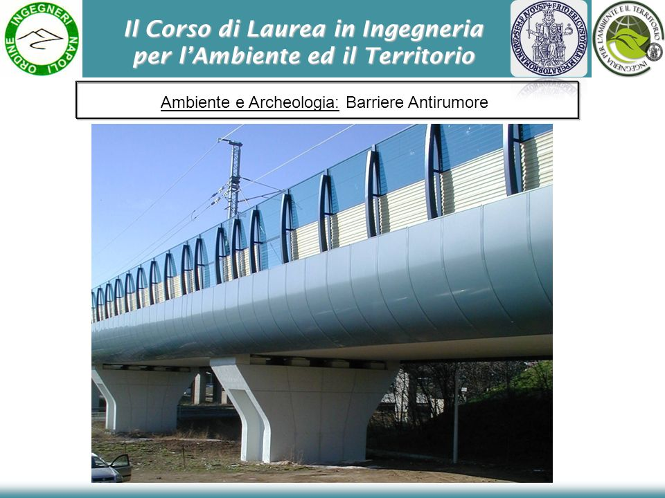 Il Corso di Laurea in Ingegneria per lAmbiente ed il Territorio Ambiente e Archeologia: Barriere Antirumore