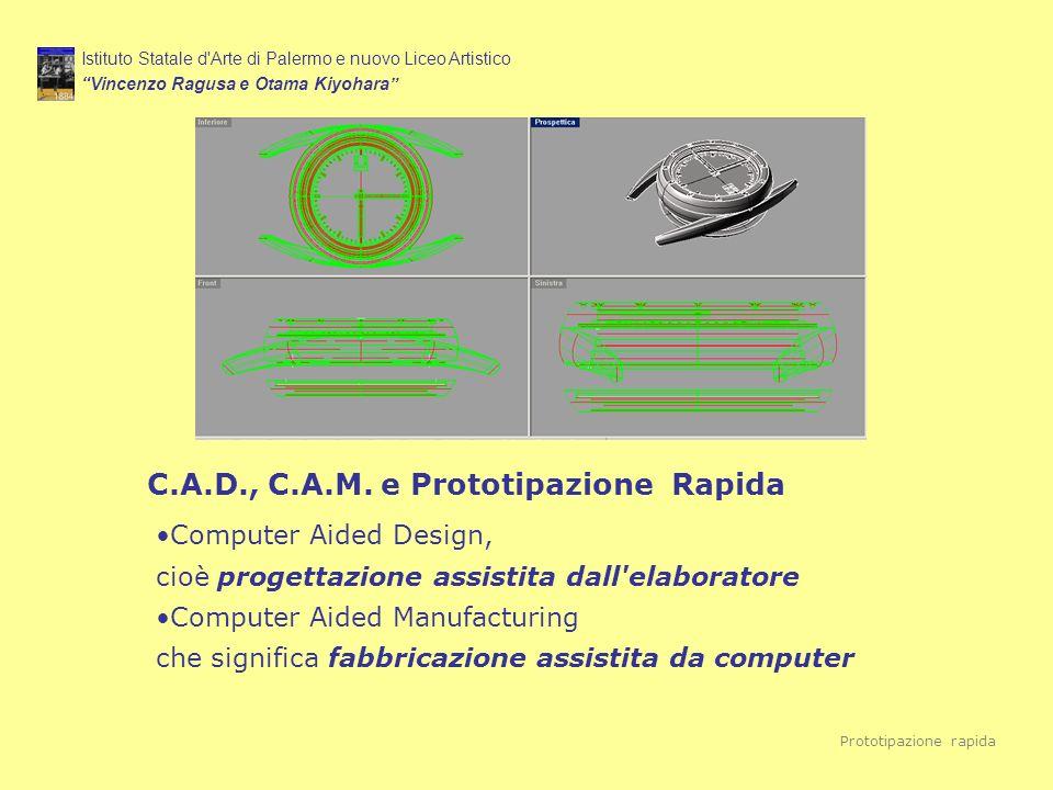 Istituto Statale d'Arte di Palermo e nuovo Liceo Artistico Vincenzo Ragusa e Otama Kiyohara Prototipazione rapida C.A.D., C.A.M. e Prototipazione Rapi