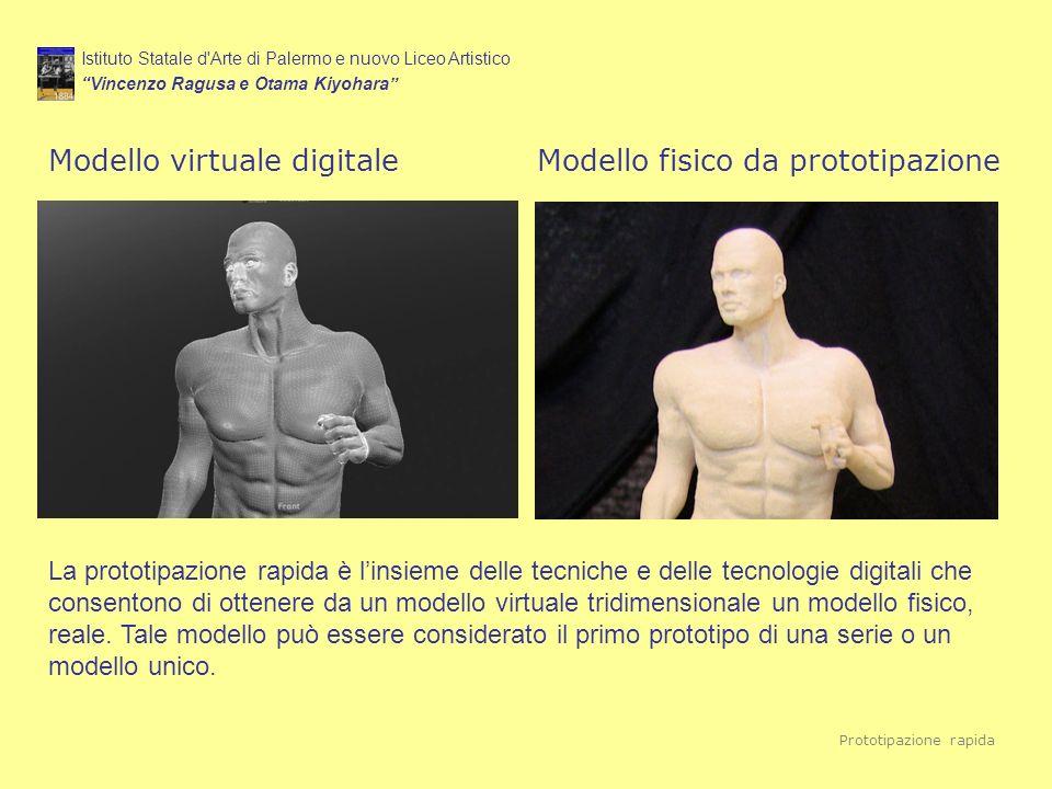 Istituto Statale d'Arte di Palermo e nuovo Liceo Artistico Vincenzo Ragusa e Otama Kiyohara Modello virtuale digitaleModello fisico da prototipazione