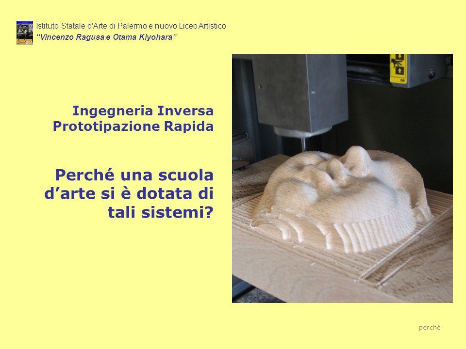 Ingegneria Inversa Prototipazione Rapida Perché una scuola darte si è dotata di tali sistemi? Istituto Statale d'Arte di Palermo e nuovo Liceo Artisti