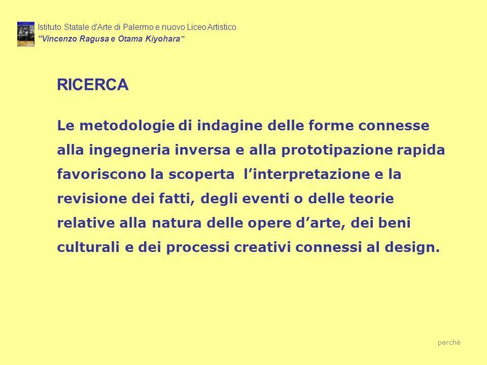 RICERCA Istituto Statale d'Arte di Palermo e nuovo Liceo Artistico Vincenzo Ragusa e Otama Kiyohara Le metodologie di indagine delle forme connesse al