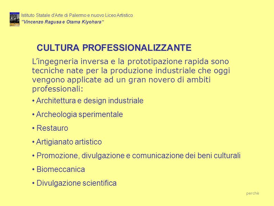 CULTURA PROFESSIONALIZZANTE Istituto Statale d'Arte di Palermo e nuovo Liceo Artistico Vincenzo Ragusa e Otama Kiyohara Lingegneria inversa e la proto