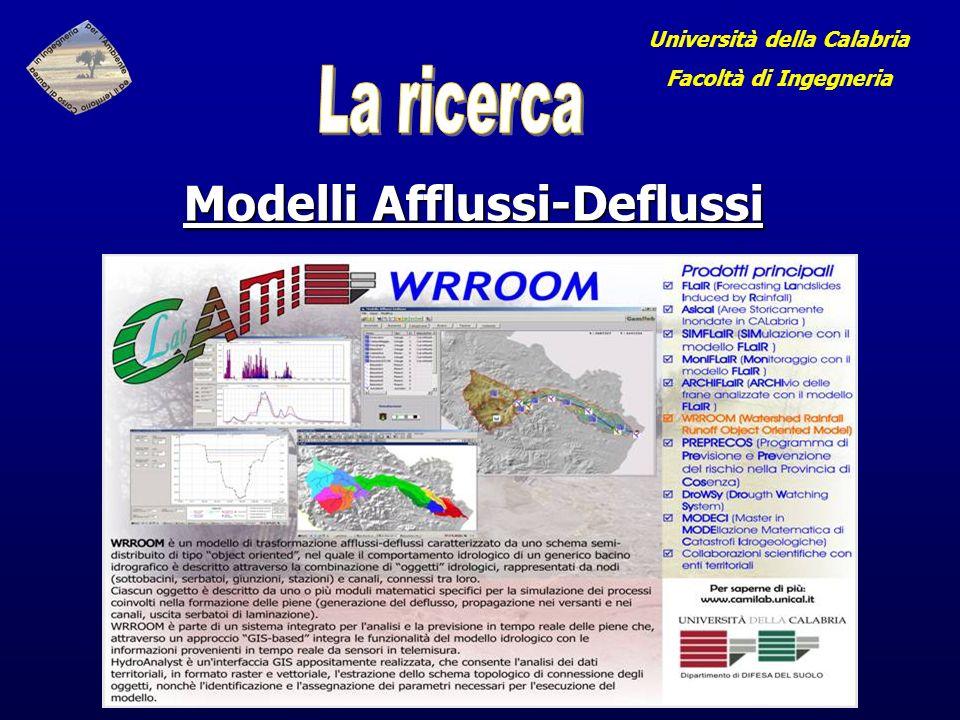 Università della Calabria Facoltà di Ingegneria Modelli Afflussi-Deflussi