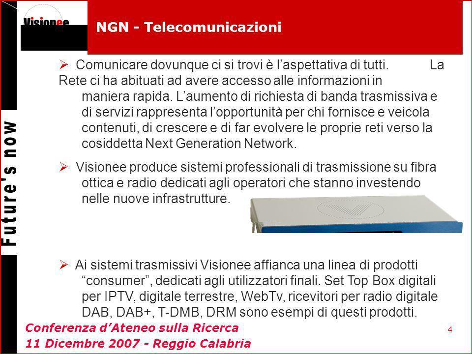 4 NGN - Telecomunicazioni Comunicare dovunque ci si trovi è laspettativa di tutti. La Rete ci ha abituati ad avere accesso alle informazioni in manier