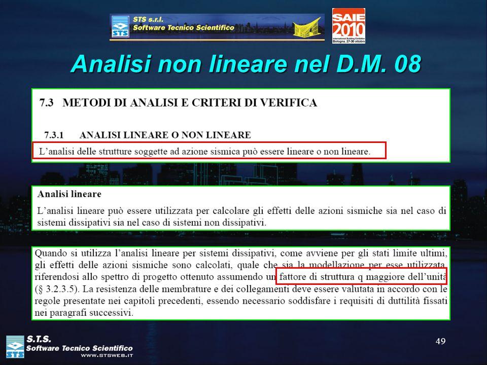 49 Analisi non lineare nel D.M. 08
