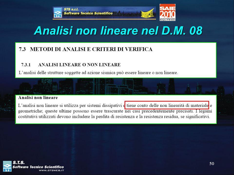 50 Analisi non lineare nel D.M. 08