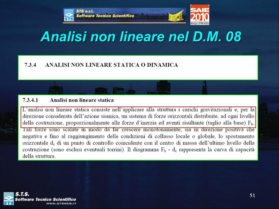 51 Analisi non lineare nel D.M. 08