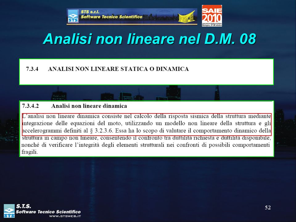 52 Analisi non lineare nel D.M. 08