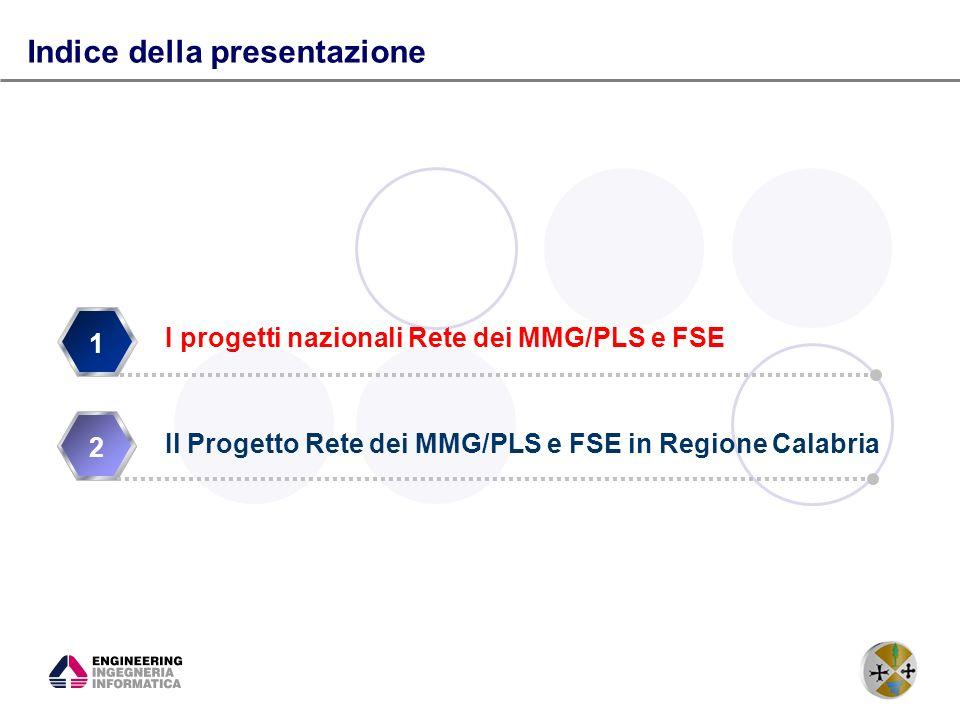 4 Il progetto Rete MMG/PLS e Fascicolo Sanitario Elettronico Nasce dalliniziativa del ministero dellinnovazione tecnologica legata allinnovazione tecnologica in sanità.