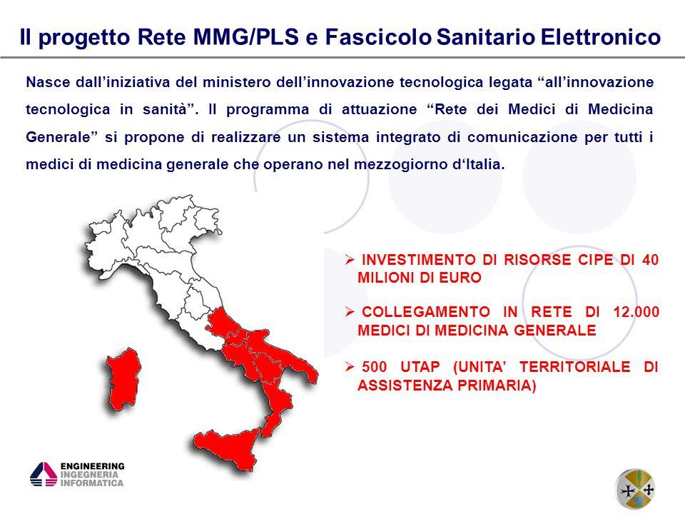 4 Il progetto Rete MMG/PLS e Fascicolo Sanitario Elettronico Nasce dalliniziativa del ministero dellinnovazione tecnologica legata allinnovazione tecn