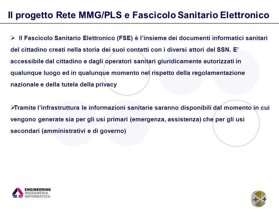 6 Il progetto Rete MMG/PLS e Fascicolo Sanitario Elettronico Il Fascicolo Sanitario Elettronico (FSE) è linsieme dei documenti informatici sanitari de