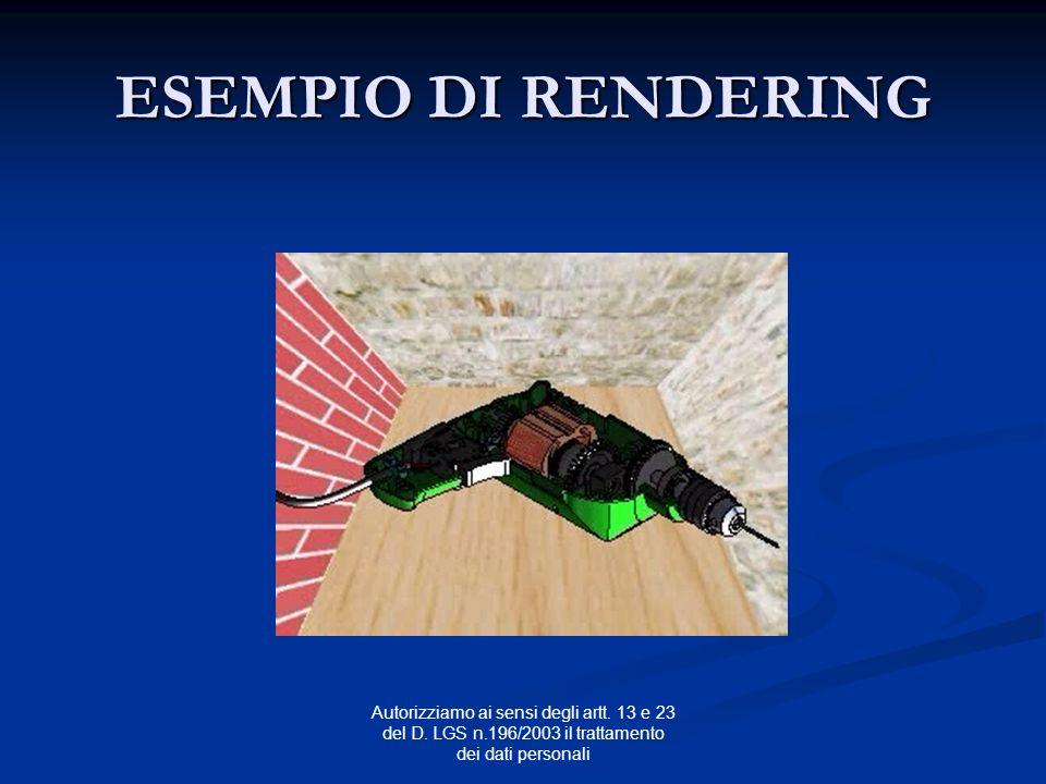 ESEMPIO DI RENDERING