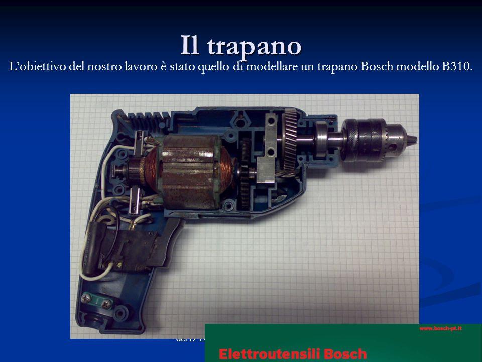 Il trapano Lobiettivo del nostro lavoro è stato quello di modellare un trapano Bosch modello B310.