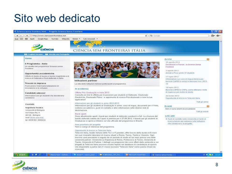 8 Sito web dedicato