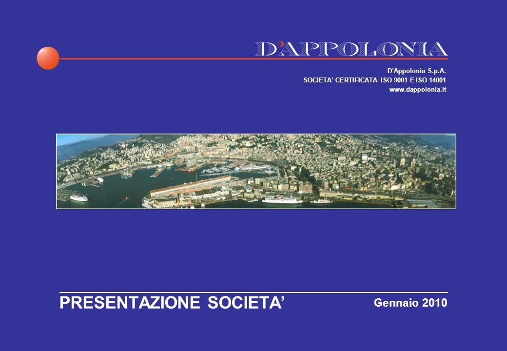 MISSIONE E BREVE STORIA DELLA SOCIETA La missione DAppolonia è di fornire alla pubblica amministrazione ed allindustria servizi di consulenza, progettazione e gestione nei diversi settori dellingegneria.