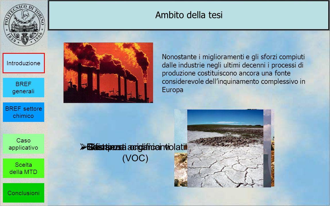 Rifiuti Sostanze acidificanti Composti organici volatili (VOC) Nonostante i miglioramenti e gli sforzi compiuti dalle industrie negli ultimi decenni i