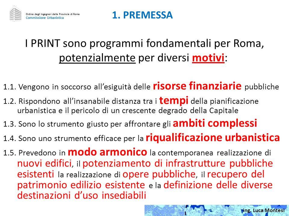 Ordine degli Ingegneri della Provincia di Roma Commissione Urbanistica PROGRAMMI INTEGRATI DI INTERVENTO Limiti e prospettive per i PRINT di ROMA 0.