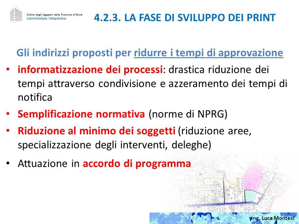 Gli indirizzi proposti per incentivare i soggetti privati Maggiori incentivi urbanistici (richiedono modifica delle NTA); le SUL potrebbero essere concesse in modo flessibile in base ad un business plan; Scelte strategiche e priorità sulle opere pubbliche (possono valorizzare i patrimoni edificati); Convenzioni per lattuazione diretta delle opere pubbliche (individuare soluzioni non in contrasto con norme UE) 4.2.2.