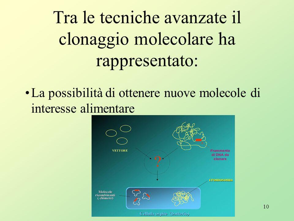 9 Biotecnologie vegetali A differenza del settore biomedico, le biotecnologie applicate al settore agro- industriale hanno condotto alla produzione di