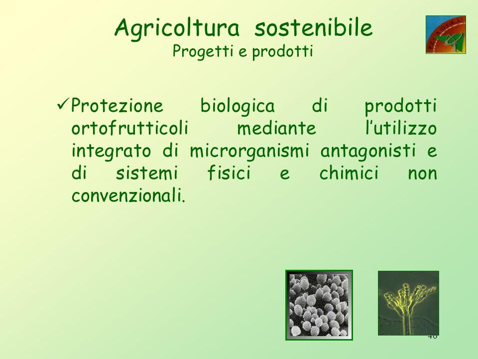 45 Le biotecnologie applicate alla produzione di alimenti comporteranno: la preparazione di prodotti ad alto valore aggiunto, lo sviluppo di molecole