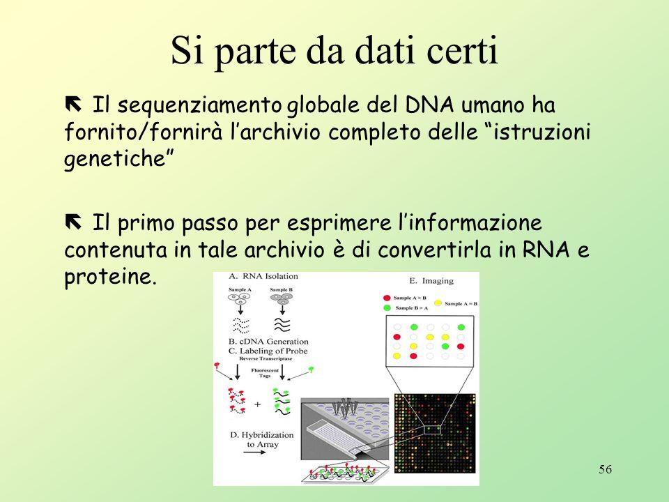 Lalba di una nuova tecnologia: Il DNA chip e microarray E possibile ottenere ciò?