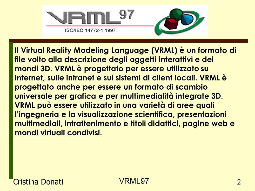 Il Virtual Reality Modeling Language (VRML) è un formato di file volto alla descrizione degli oggetti interattivi e dei mondi 3D.
