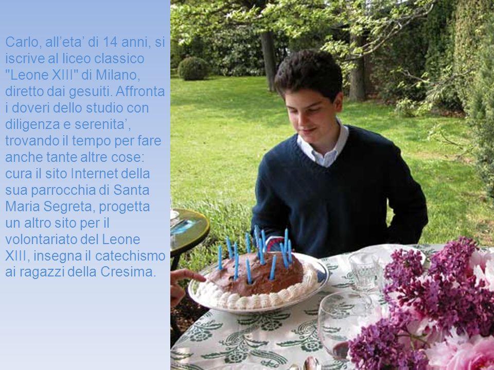 Carlo, alleta di 14 anni, si iscrive al liceo classico