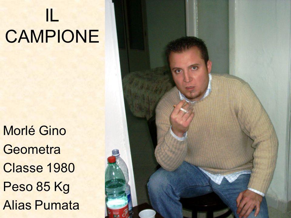 IL CAMPIONE Morlé Gino Geometra Classe 1980 Peso 85 Kg Alias Pumata