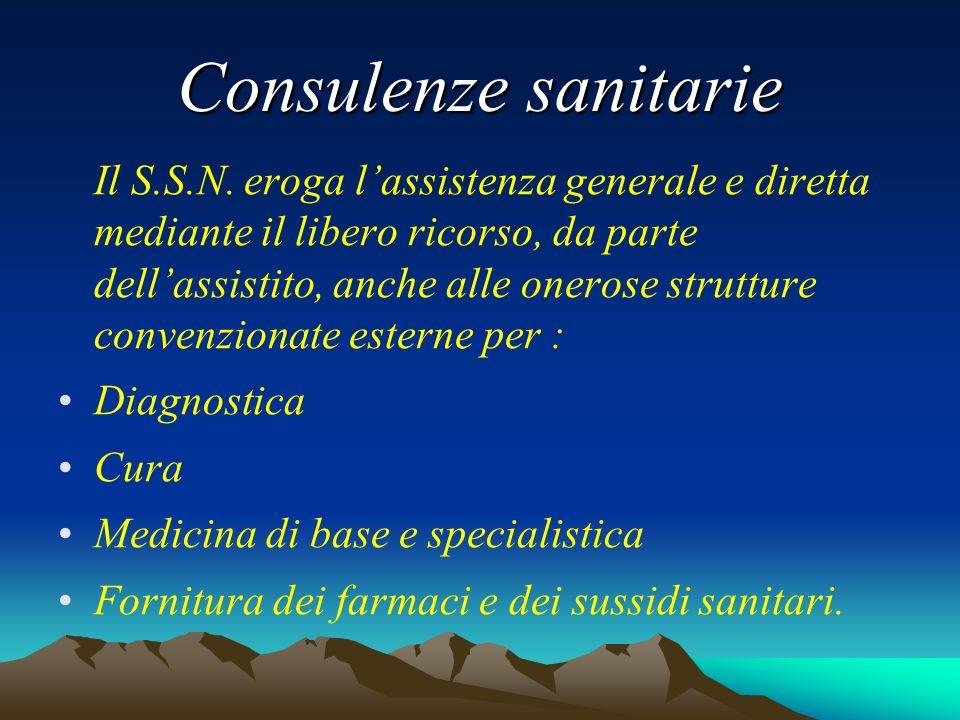 Consulenze sanitarie Il S.S.N.