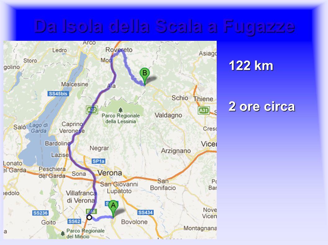 Da Isola della Scala a Fugazze 122 km 2 ore circa