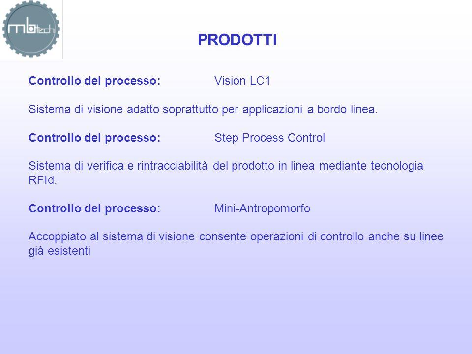 PRODOTTI Controllo del processo:Vision LC1 Sistema di visione adatto soprattutto per applicazioni a bordo linea. Controllo del processo:Step Process C