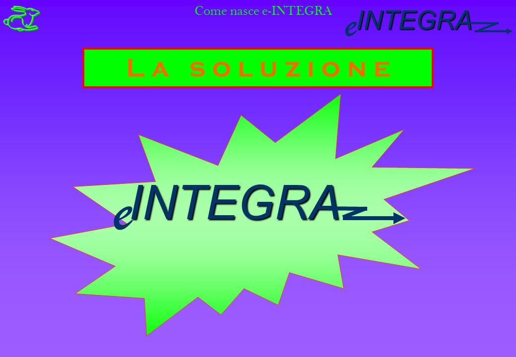 INTEGRA e L a s o l u z i o n e Come nasce e-INTEGRAINTEGRA e