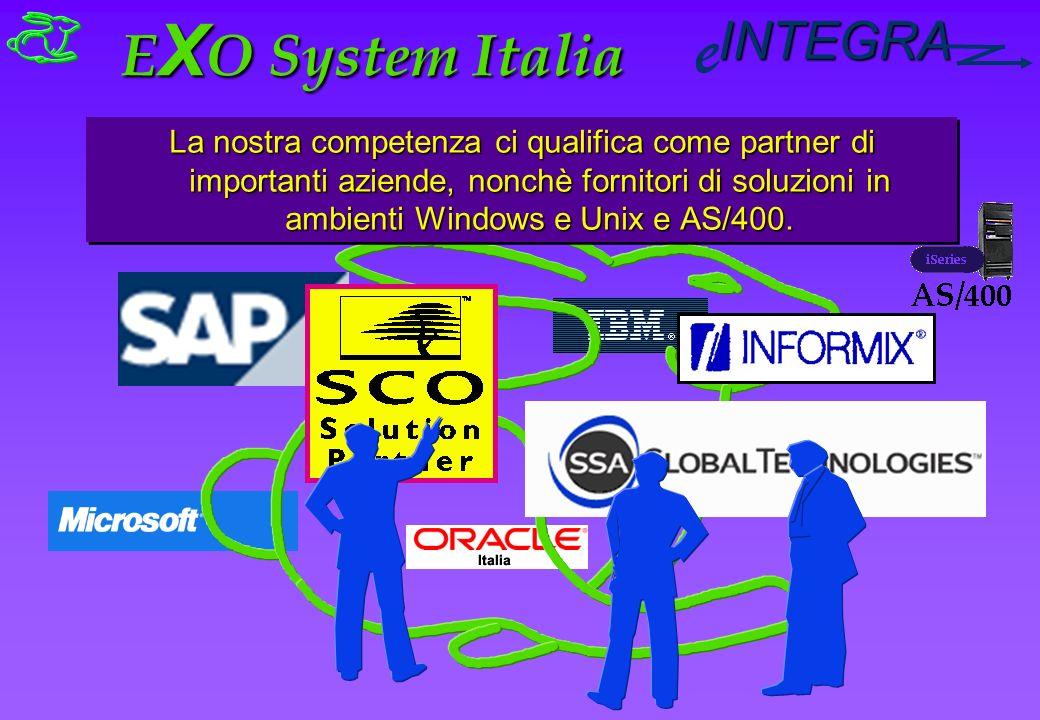 INTEGRA e La nostra competenza ci qualifica come partner di importanti aziende, nonchè fornitori di soluzioni in ambienti Windows e Unix e AS/400.