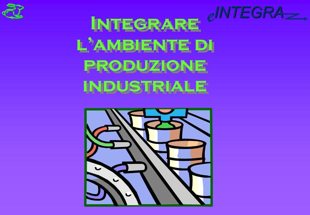 INTEGRA e Integrare lambiente di produzione industriale Integrare lambiente di produzione industriale
