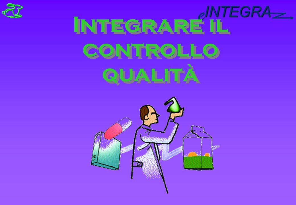 INTEGRA e Integrare il controllo qualità Integrare il controllo qualità