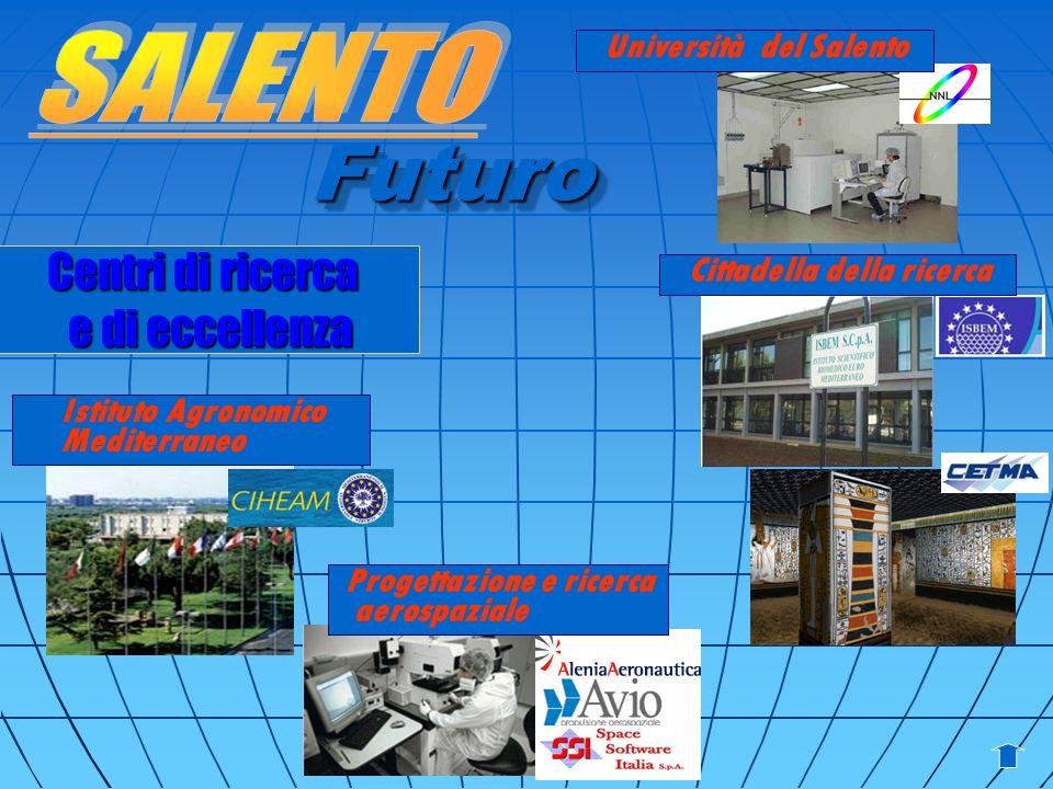 Centri di ricerca e dieccellenza e di eccellenza Futuro Università del Salento Progettazione e ricerca aerospaziale Cittadella della ricerca Istituto