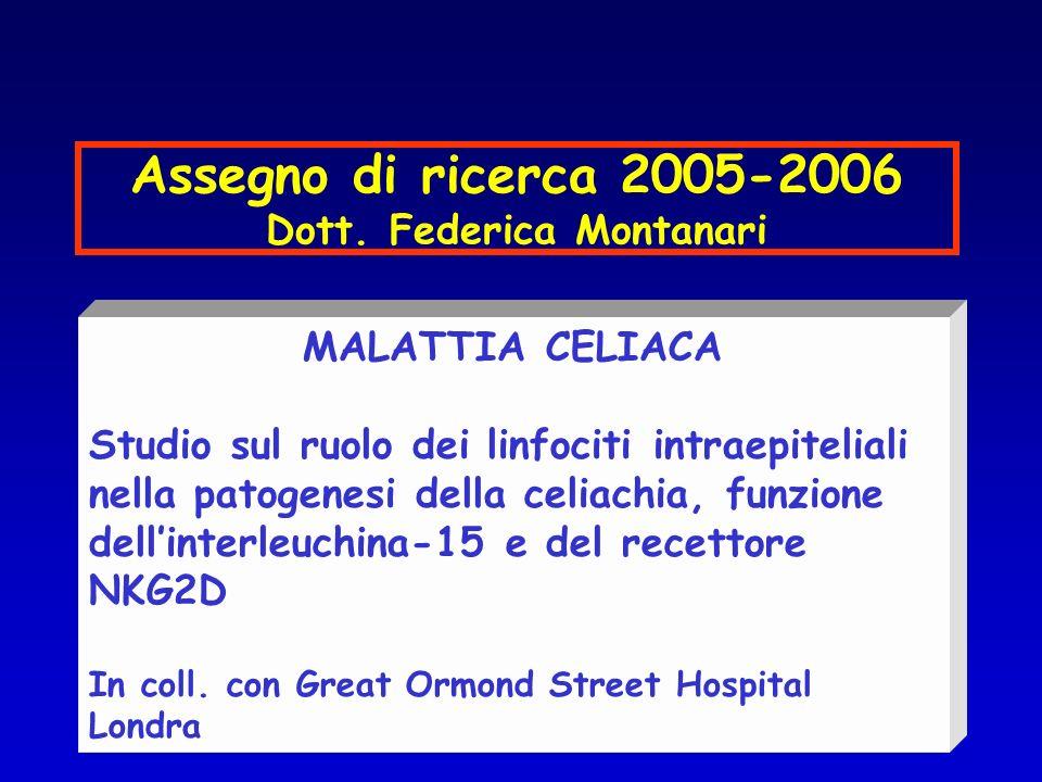 Assegno di ricerca 2005-2006 Dott.