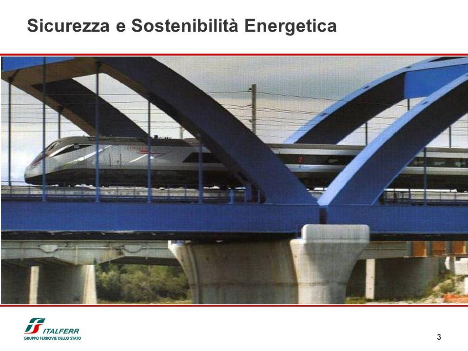 3 Sicurezza e Sostenibilità Energetica Le Ferrovie realizzano per i Clienti opere e servizi nel trasporto ferroviario e contribuiscono a sviluppare pe
