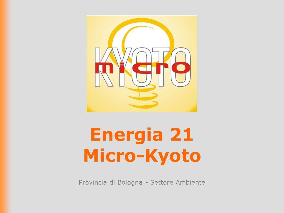 Energia 21 Micro-Kyoto Provincia di Bologna - Settore Ambiente