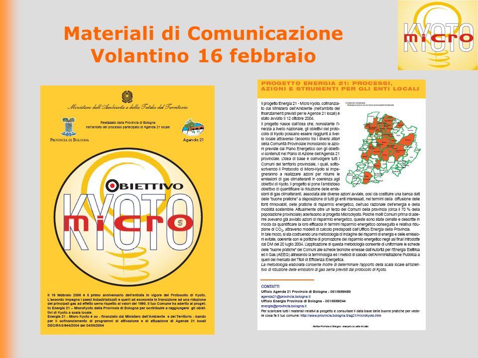 Materiali di Comunicazione Volantino 16 febbraio