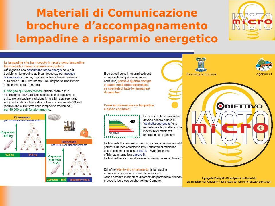 Materiali di Comunicazione brochure daccompagnamento lampadine a risparmio energetico