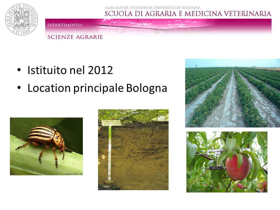 Istituito nel 2012 Location principale Bologna