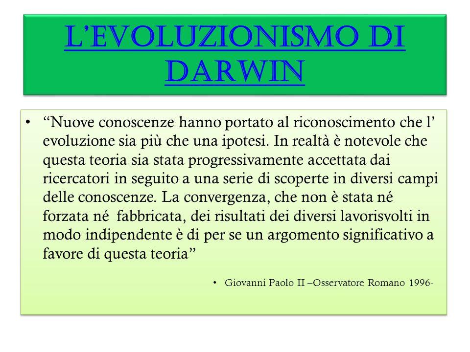 Oggi dire evoluzionismo è dire Darwin.