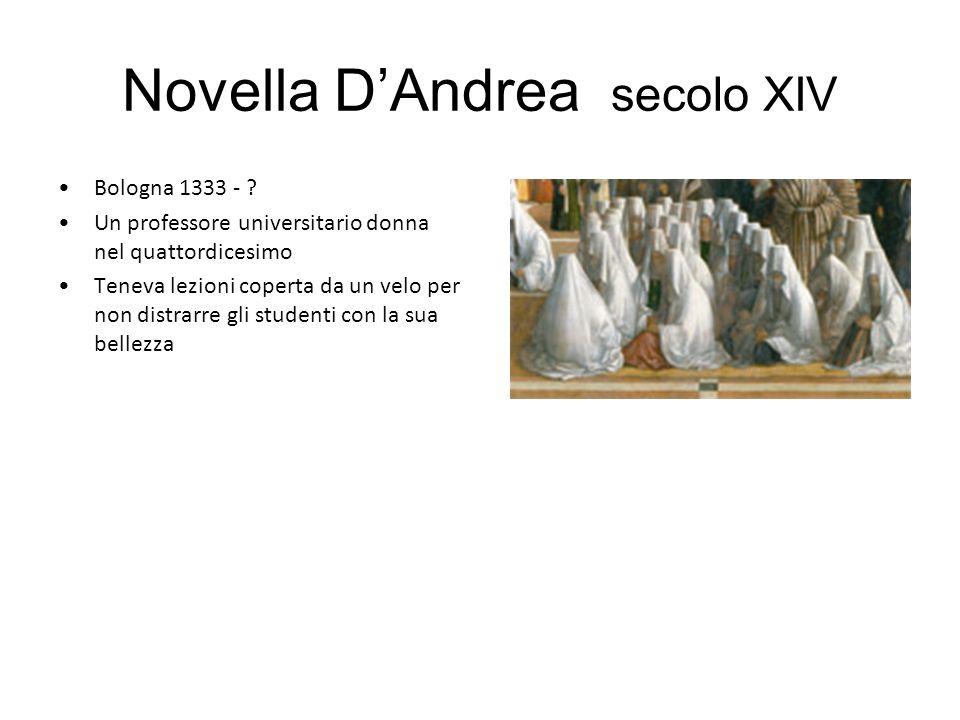 Novella DAndrea secolo XIV Bologna 1333 - .