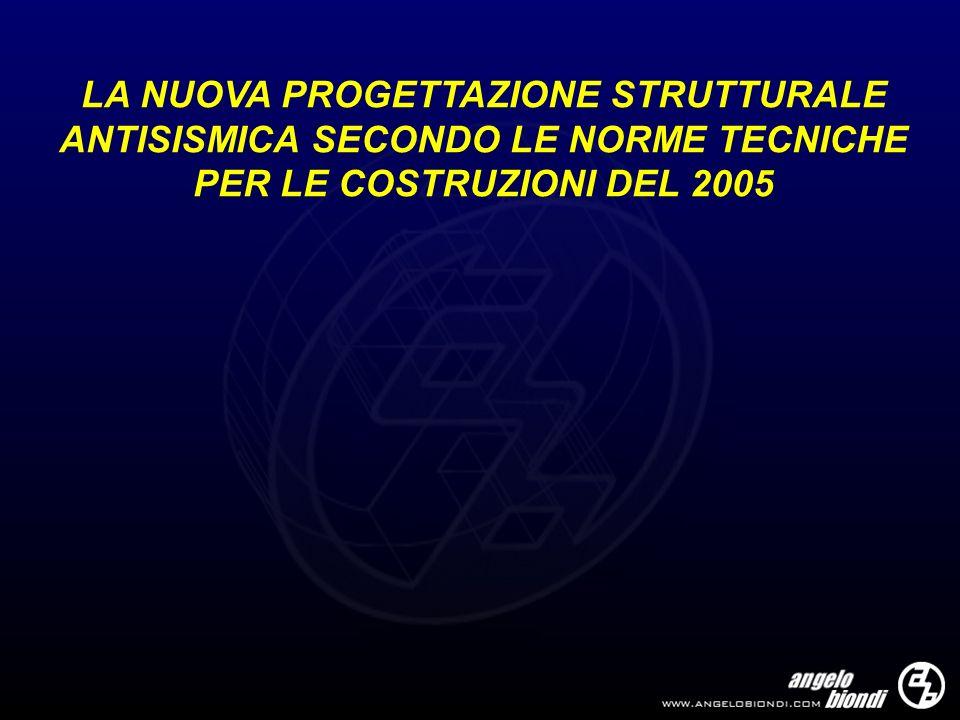 ANALISI SISMICA DELLE STRUTTURE Schema SCONSIGLIATO