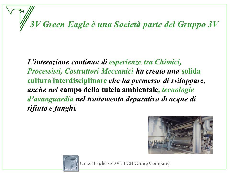 Green Eagle is a 3V TECH Group Company 3V Green Eagle è una Società parte del Gruppo 3V Linterazione continua di esperienze tra Chimici, Processisti,