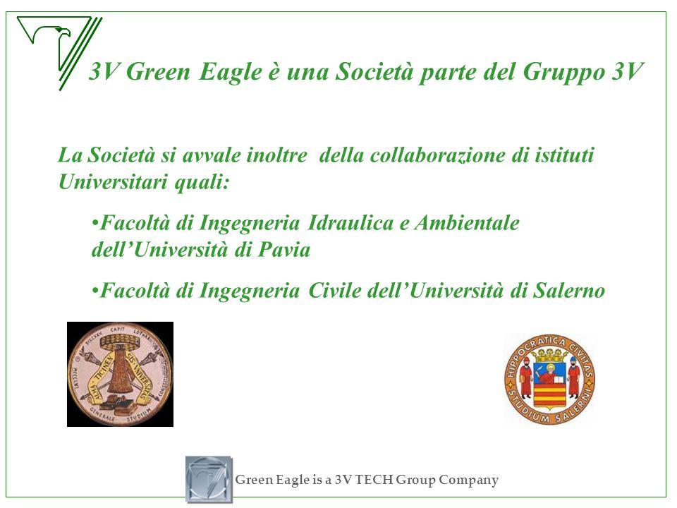 Green Eagle is a 3V TECH Group Company 3V Green Eagle è una Società parte del Gruppo 3V La Società si avvale inoltre della collaborazione di istituti