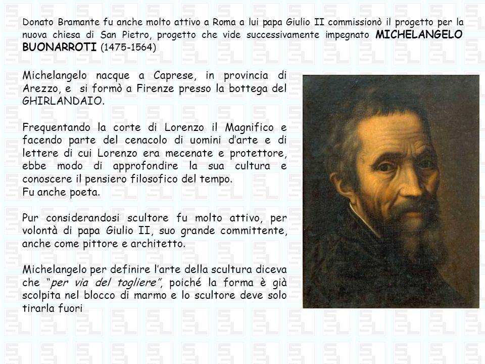 Donato Bramante fu anche molto attivo a Roma a lui papa Giulio II commissionò il progetto per la nuova chiesa di San Pietro, progetto che vide success