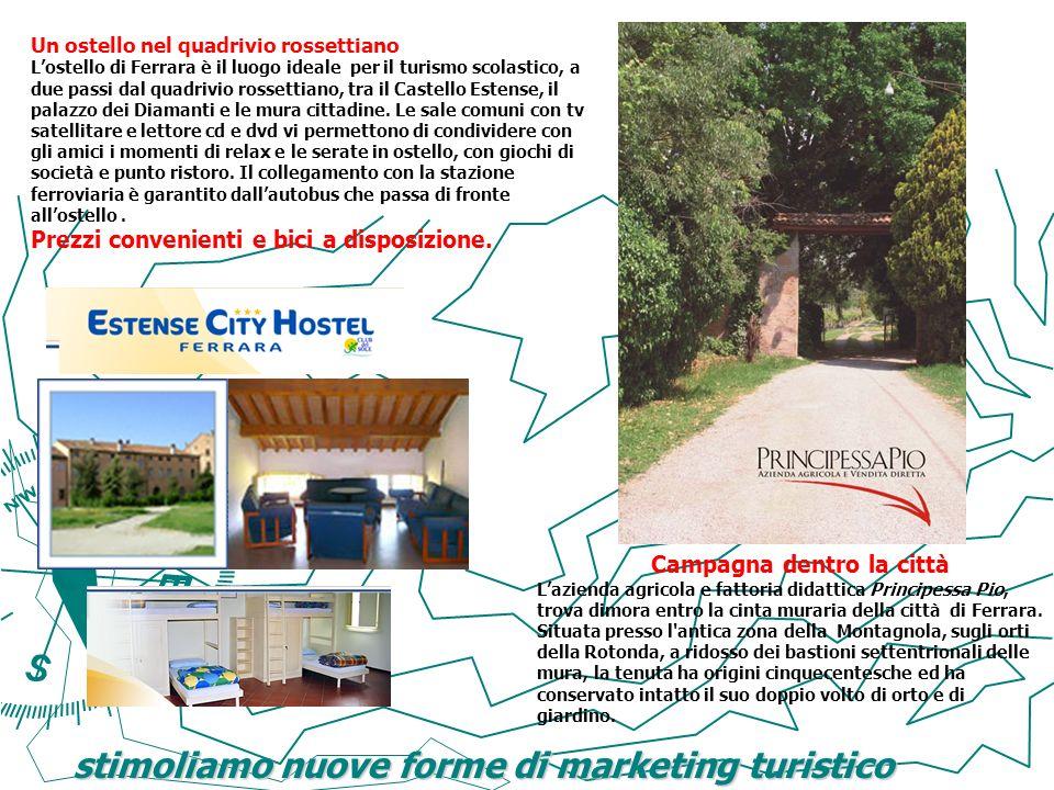 stimoliamo nuove forme di marketing turistico Un ostello nel quadrivio rossettiano Lostello di Ferrara è il luogo ideale per il turismo scolastico, a