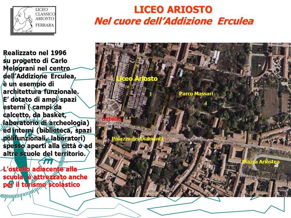 LICEO ARIOSTO Nel cuore dellAddizione Erculea Realizzato nel 1996 su progetto di Carlo Melograni nel centro dellAddizione Erculea, è un esempio di arc